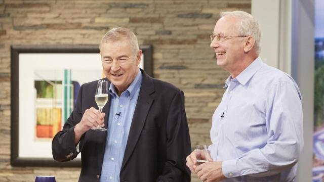 Goodnight and co-founder John Sall, the founders of SAS, shared a champagne toast to celebrate the anniversary.