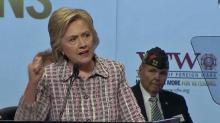 Clinton speaks to vets in Charlotte