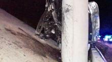 IMAGES: Pickup truck strikes bridge on Highway 70 near Selma