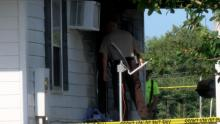 Johnston County officials said a meth lab was found in a Four Oaks home on Thursday after firefighters put out a fire.