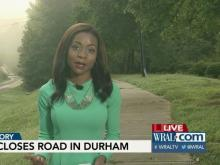 Large sinkhole closes road in Durham
