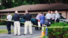 IMAGES:  Deputies investigating shooting at Raleigh gun shop
