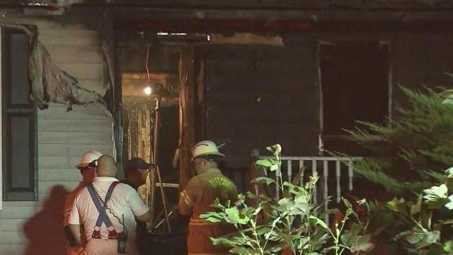 A homeowner and a firefighter were injured late Tuesday night during a fire at a Wake County residence, authorities said.