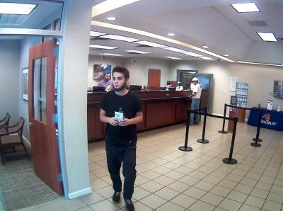 Durham police are searching for a suspect who walked into a SunTrust Bank and demanded money from a teller Wednesday afternoon.
