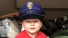 IMAGES: Four-year-old fighting leukemia dreams of becoming police officer