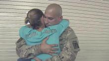 Soldiers say goodbyes before deploying to Kuwait