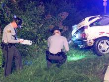 Officials said a man was killed and a woman is in critical condition after a wreck on Government Road near Blue Pond Road Thursday night in Clayton.