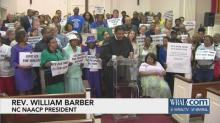 IMAGE: Barber, NAACP call on supporters to enforce voter ID ruling