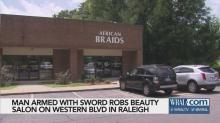 IMAGE: Masked man armed with sword robs Raleigh hair salon