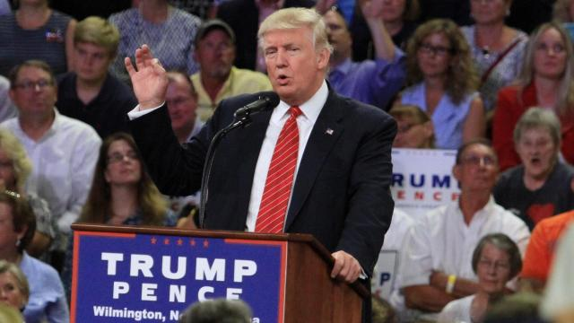 Republican presidential nominee Donald Trump campaigned in Wilmington on Aug. 9, 2016.