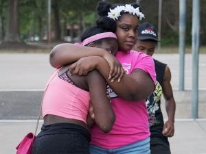 Friends gathered to mourn Kouren-Rodney Bernard Thomas one week after he was shot outside a house party in Raleigh.
