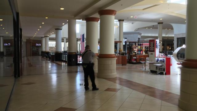 Raleigh police were working to secure Crabtree Valley Mall Saturday afternoon after a report of gunshots (Photo courtesy Tony Rice)