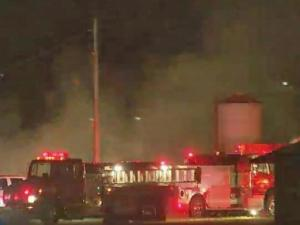 Flames tore through the North Carolina State University's poultry lab early Monday morning.