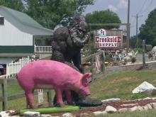 Pig, ape statues become Germanton attractions