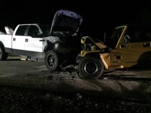 Authorities said that two vehicles collided on Southall Road after 9 p.m.