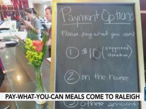 A concept to fight hunger around the nation has made its way to the Triangle, and an organizing group in Raleigh says it can provide healthy meals that anyone can afford.