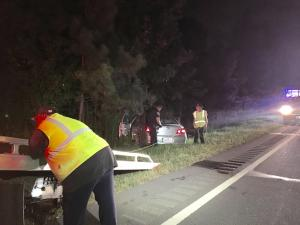 All lanes of Interstate-85 reopened late Saturday night after a car overturned on the side of the highway near Red Mill Road in Durham.