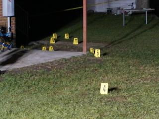 Police said four people were injured Tuesday night during a shootout in Clinton.