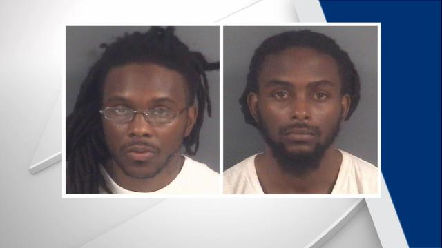 Kenneth Shaw, 28, and Amos Shaw, 26, are each charged with first-degree murder in the deaths of Derrick McClain and Derrick Robinson. The Shaw brothers were arrested late Tuesday, police said.