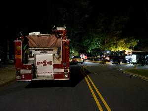 Authorities said one person and three dogs were found dead after a fire early Tuesday morning at a home in Fayetteville.
