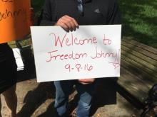 Johnny Small soaked up plenty of sunshine and got dozens of hugs Friday as he celebrated his first full day of freedom in nearly three decades, but the future is still unclear for Small, who spent the bulk of his life in prison for a 1998 murder he says he didn't commit.