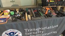 IMAGES: TSA says confiscations of guns, chemicals on the rise at RDU
