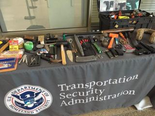 The Transportation Security Administration at the Raleigh-Durham International Airport on Tuesday provided travelers with tips and advice as to what is allowed in a carry-on bag after the number of loaded guns rose 68 percent compared to last year.