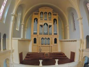 Organ builders with the C.B. Fisk Company in Gloucester, Ma. are in the process of building an elaborate pipe organ that will be used in the Holy Name of Jesus Catholic cathedral when it is completed next spring.