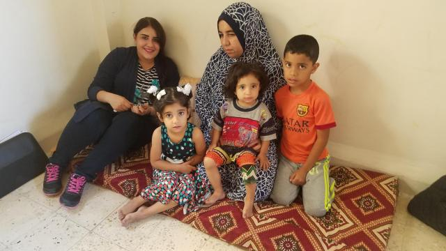 Refugee families crowd into urban apartments across the Middle East. (Photo courtesy Ned & Marian Walsh)