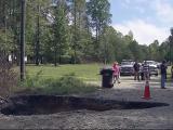 Sinkhole cuts off Alamance neighborhood