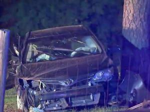 Authorities said the crash occurred on William White Road and Riley Road at about 10:20 p.m.