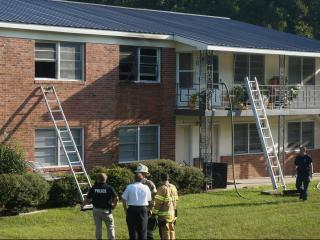 Injuries reported after apartment fire in Fayetteville