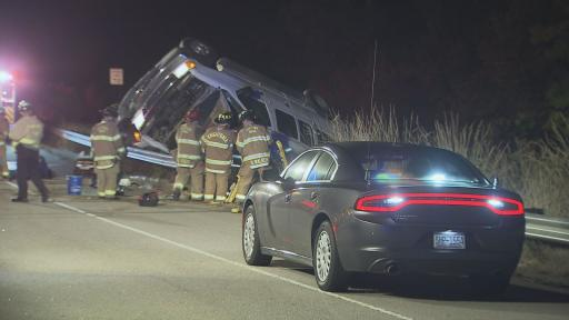 One person died early Wednesday morning in a single-vehicle crash on Interstate 495 in Wake County, officials said.