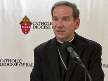 Bishop Burbidge speaks publicly in Raleigh