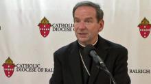 Bishop Burbidge speaks publicly in Raleigh