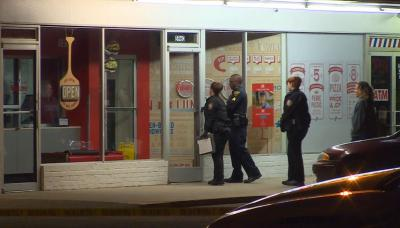 An employee at a Domino's restaurant in Fayetteville was shot during a robbery early Thursday morning, police said.