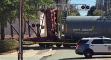 IMAGES: Freight train car derails in Raleigh; No injuries reported
