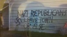 Republican building vandalized in Hillsboro