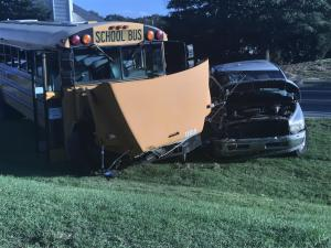 4 hospitalized in Raleigh crash involving school bus