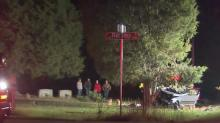 IMAGES: Officials: 2 seriously injured after crash at Wake County cemetery