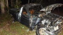 Man dies in fiery Moore County crash