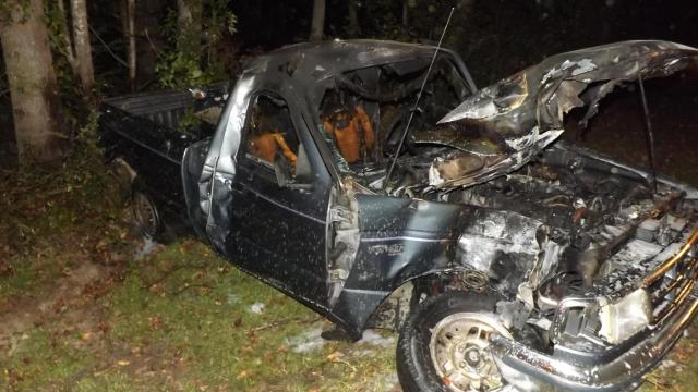 A 25-year-old man died Sunday night in a single-car crash in Moore County.