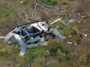A helicopter crashed Tuesday morning off Stanton Hill Road in Moore County.