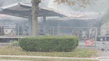 IMAGES: Fire breaks out at Raleigh service station