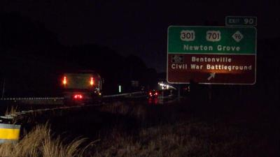 Man struck, killed by tractor trailer along I-95 in Johnston County