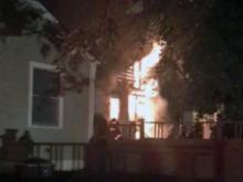 Fire rips through back of Durham home
