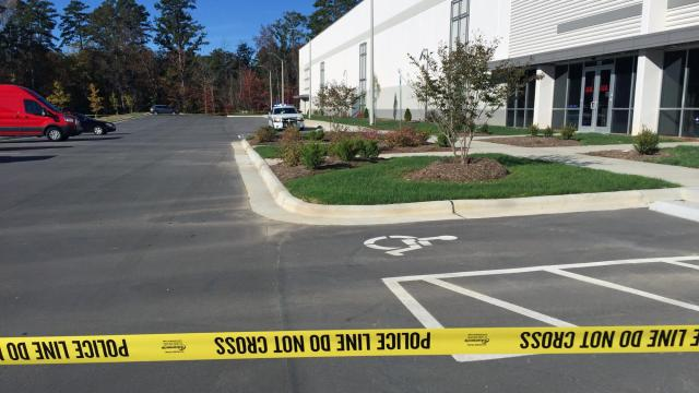 One person was shot early Thursday at a delivery business in Knightdale.
