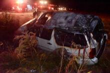 Authorities said seven people were inside a vehicle when it rolled over on N.C. Highway 96 near Old Buela Road.
