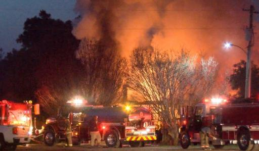 A fire on Wednesday morning destroyed a Selma home.