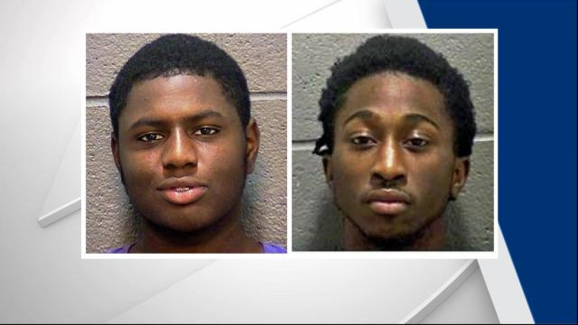 Authorities said James Tyree Lunsford, 19, and Russell Wright Jr., 21, approached a man and woman in a parking lot in the 2800 block of Chapel Hill Road on Oct. 19, grabbed the woman and took her phone. Wright also hit the man in the face with a gun and took his phone and wallet.